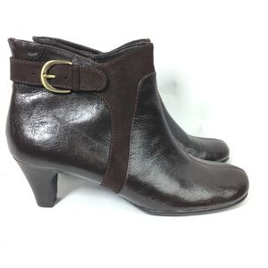 Aerosoles Playroom  Suede Leather Ankle Bootie